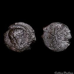 Geta / Serdica, Thrace /  Assarion à l'étoile / Très rare et non publiée
