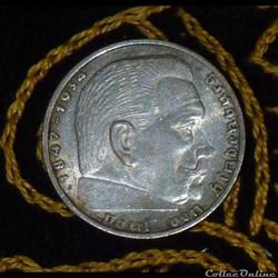 2 ReichsMark Paul Von Hindenburg
