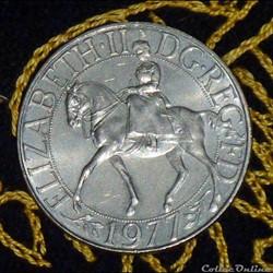 ÉLISABETH II - Jubilé d'argent du règne de la reine.