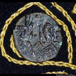 MICHAEL II et THEOPHILE - Follis de 3,75...