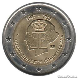 Belgique - 2012 : 75e anniversaire du Concours musical international Reine Élisabeth de Belgique