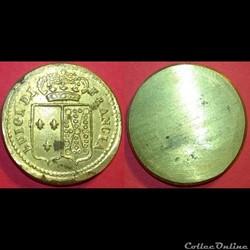 LOUIS XVI Poids monétaire pour le double...