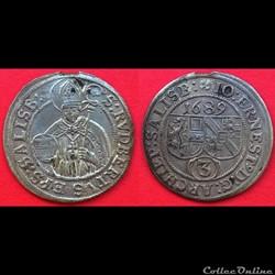 3 kreuzer Johann Ernst von Thun 1689