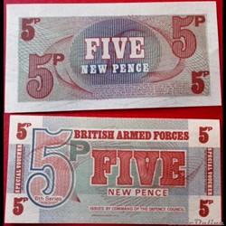 Royaume-Uni 5 New Pence ND