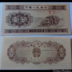 1 Fen - 1953 Chine