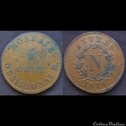5 centimes siège d'Anvers - Napoléon Ier