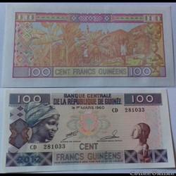100 francs Guinée 2012