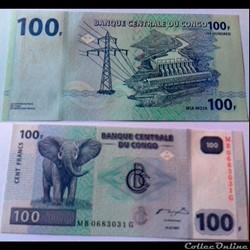 100 francs Congo 2007