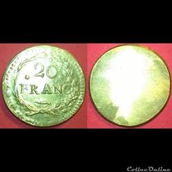 poids monétaire 20 francs