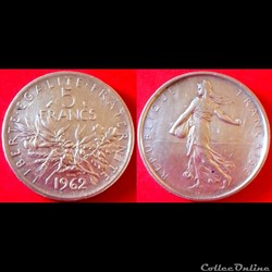 5 francs Semeuse argent