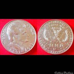 100 francs Marie Curie argent 900‰