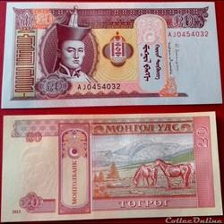 20 Tögrög  2013 Mongolie