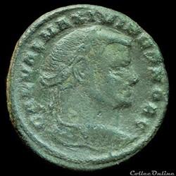 Follis de Maximin II Daïa césar pour Sis...