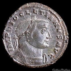 monnaie antique romaine follis de diocletien pour lyon