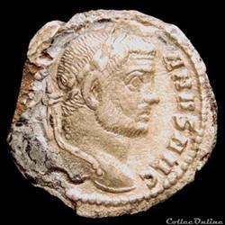 Argenteus de Maximien Hercule de Rome fo...