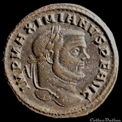 Follis de Maximien Hercule pour Carthage