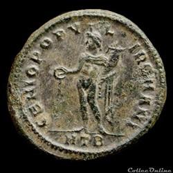 monnaie antique romaine follis de diocletien pour heraclee