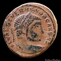 Follis de Sévère II césar pour Serdica