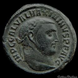 Follis de Maximin II Daïa auguste pour A...