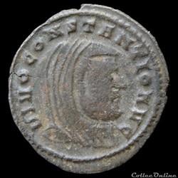 Follis De Maxence dédié à Constance Chlore pour Ticinium