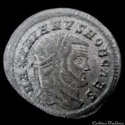 Follis de Galère Maximien césar pour Rome