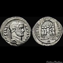 Argenteus de Maximien Hercule pour Rome