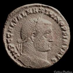 Follis de Maximin II Daïa auguste pour H...