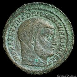 Follis de Maxence pour Ostie dédié à Maximien Hercule