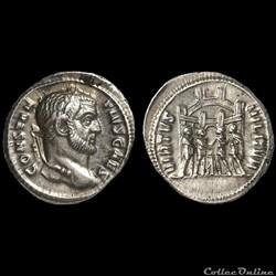 Argenteus de Constance Chlore pour Rome