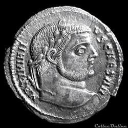 Argenteus de Galère Maximien césar pour ...