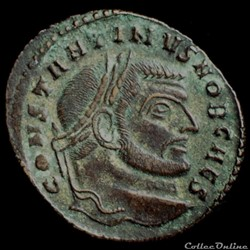 Follis de Constantin I, pour Rome
