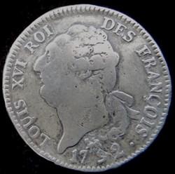 Écu constitutionnel de 6 livres Louis XV...