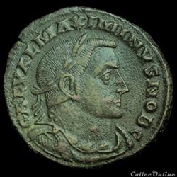 Follis de Maximin II Daïa césar pour Lyon