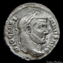 Argenteus de Dioclétien pour Carthage