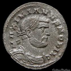 Follis de Galère Maximien césar pour Lon...