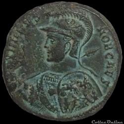 Follis de Maximin II césar pour Antioche.