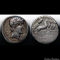 Crawford 342/5 C.VIBIVS C.F.PANSA (C. Vibius C. f. Pansa), Denar, 90, Rom