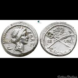 munzen antike vor j bi nach romische crawford 440 1 q sicinivs iiivir q sicinius for cn pompeius magnus denar