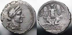 Crawford 468/1 CAESAR (C.Iulius Caesar),...