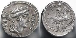 Crawford 454/1 A. LICINIVS NERVA IIIVIR ...