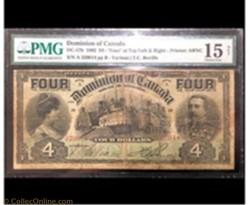 4 dollars 1902 du dominiom of Canada