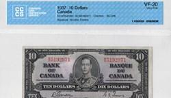 billets de 10 dollars 1937