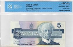 5 dollars1986