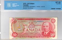 billet de 50 dollars 1975