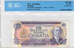 billet de  10 dollars 1971