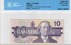 billet de 10 dollar 1989
