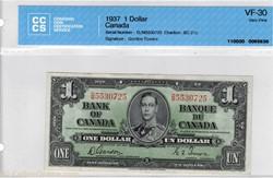 Billet de 1 Dollar 1937