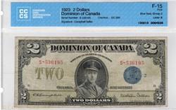 2 dollars 1923 Dominion of Canada