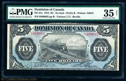 billet de 5 dollars 1912