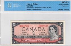 Billet de 2 dollars 1954 BC-38bA